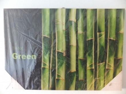 SLIKA - GREEN  BAMBUS  na slikarskom platnu- kanavisu