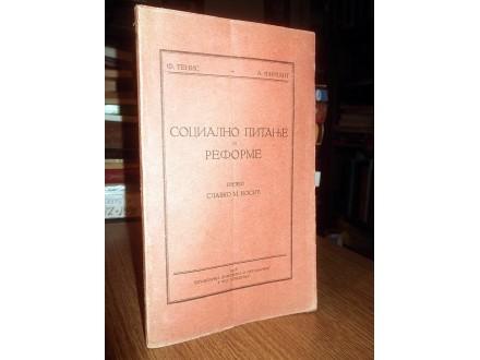 SOCIALNO PITANJE I REFORME - F.Tenis i A.Firkant (1928)