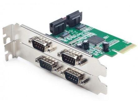 SPC-2 Gembird Dodatna PCI-Express kartica sa cetiri COM porta