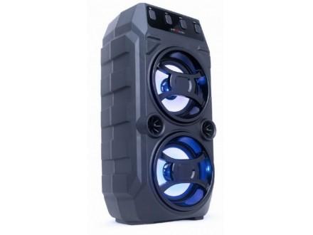 SPK-BT-13 Gembird Portable Bluetooth karaoke speaker 2x5W, FM, USB, SD, 3,5mm, MIC 6,35mm, LED,black
