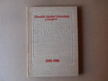 SPOMENICA 1950 - 1980 FILOZOFSKI FAKULTET U SARAJEVU