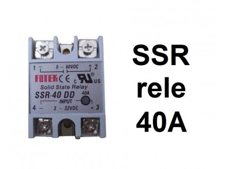 SSR rele - 40A - Solid state relay - SSR-40 DD