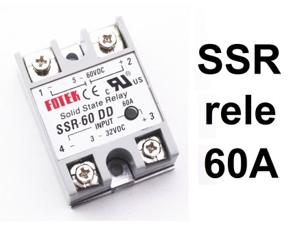 SSR rele - 60A - Solid state relay - SSR-60 DD