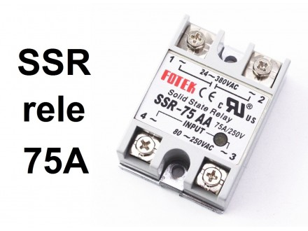 SSR rele - 75A - Solid state relay - 250V upravljanje