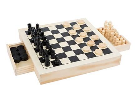 Šah 3 u 1 - mice, dame