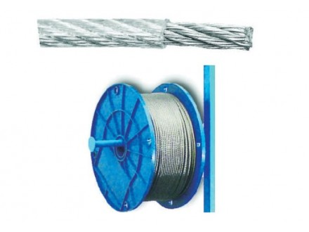 Sajla čelična plastificirana   PVC 2/3 mm Levior