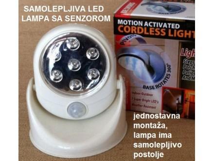 Samolepljiva led lampa sa senzorom