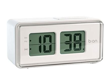 Sat sa alarmom - Flip LCD, White - Balvi