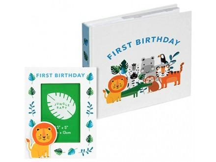 Set album i ram - Jungle Baby, First Birthday - Jungle Baby