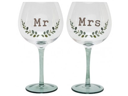Set čaša - Love Story, Mr &; Mrs - Love Story