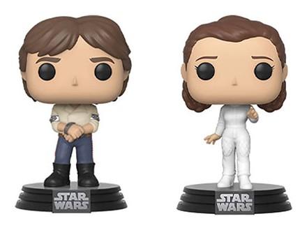 Set figura - POP, Star Wars, Empire Strikes Back, Han Solo &; Princess Leia - Star Wars