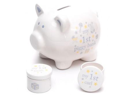 Set kasica i kutijice - Hello Baby, Piggy, Baby Boy - Hello Baby