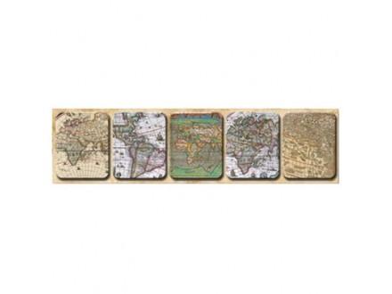 Set magneta 1/5 - Antique Maps, Mixed Lozenge