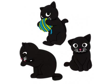 Set magneta - Happy Cat, Blue - Maison et deco