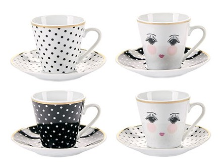 Set šolja za espresso - Eyes &; Dots