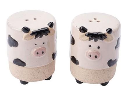 Set za so i biber - Stoneware, Cow - Stoneware
