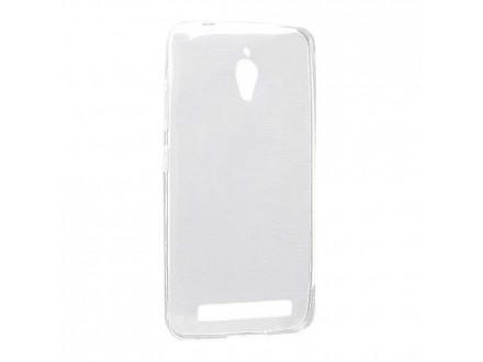 Silikonska futrola skin PROTECT za Asus ZENFONE GO ZC500TG providna (bela) (MS)