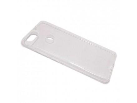 Silikonska futrola skin PROTECT za Asus Zenfone Max Plus (M1) ZB570TL providna (bela) (MS)