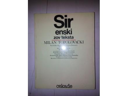 Sirenski zov teksta - Milan Topolovački