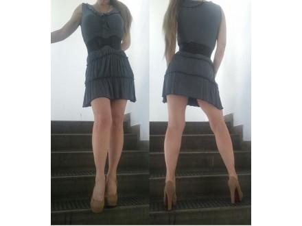 Siva mini haljina Feedback