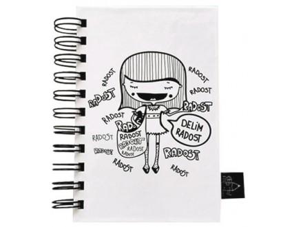 Škrabook - Delim radost, A6 - Škrabac