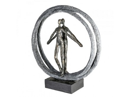 Skulptura - Pair in Ring, bronze/black