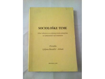 Sociološke teme - Buzadžić-Jelinek