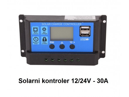 Solarni kontroler punjenja 30A - 12/24V