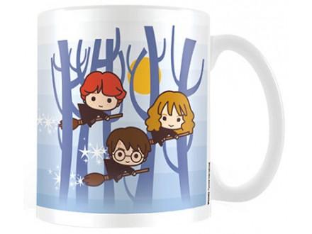 Šolja - Harry Potter, Chibi Harry, Ron, Hermione Flying - Harry Potter