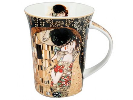 Šolja - Klimt, The Kiss, Black - Gustav Klimt