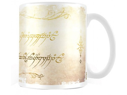 Šolja - LOTR, Ring Inscription - Lord of the Rings