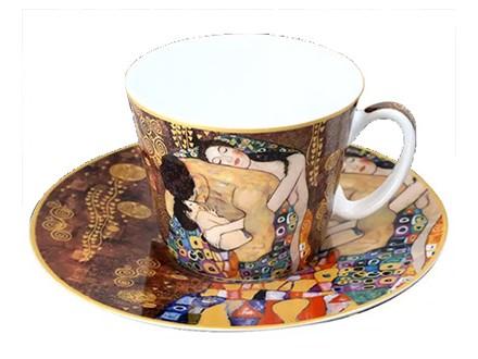 Šolja sa tacnom - Klimt, The Family, Collage - Gustav Klimt