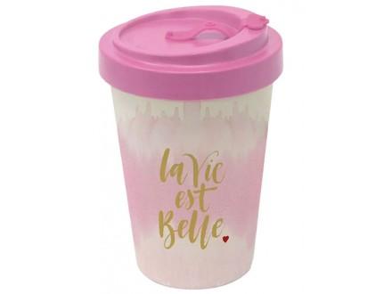Šolja za poneti - Bamboo, La Vie Est Belle, Pink