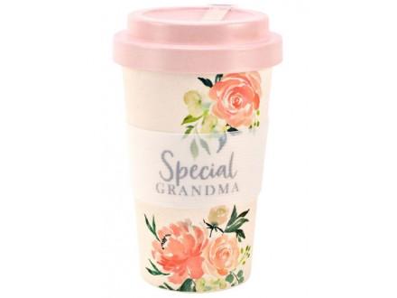 Šolja za poneti - Peaches &; Cream, Bamboo, Grandma - Peaches &; Cream