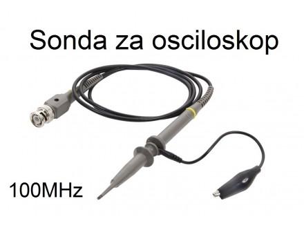 Sonda za osciloskop DC-100MHz 600V x1/x10