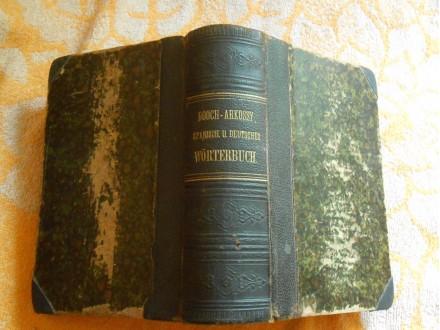 Spanisch-Deutsch,Deutsch-Spanisch DICCIONARIO Booch1884