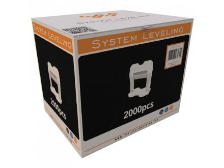 Spone za nivelaciju pločica 2mm - 2000kom. SYSTEM LEVEL