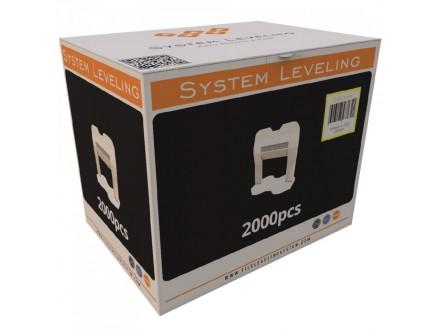 Spone za nivelaciju pločica 3mm - 2000kom. SYSTEM LEVEL