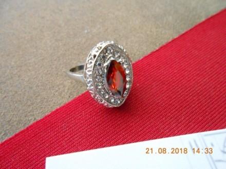 Srebrni prsten - Karneol