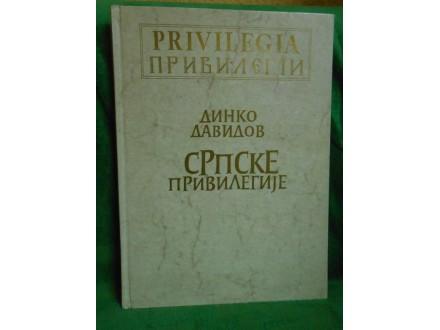 Srpske privilegije carskog doma habzburškog Dinko Davi