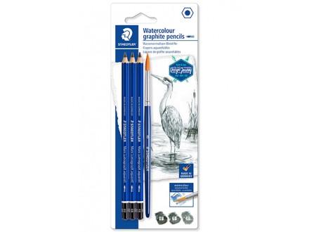 Staedtler - akvarel drvena olovka + četkica 1/4
