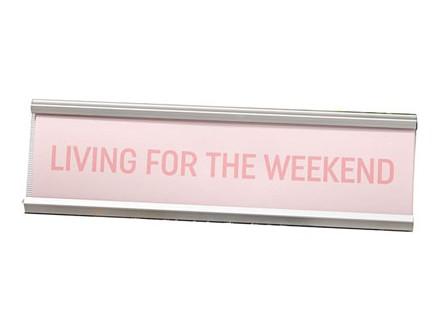 Stona dekoracija - Living For The Weekend Pink - Harvey Makin