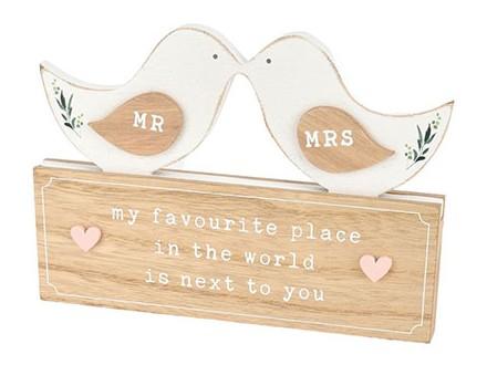 Stona dekoracija - Love Story, Love Birds, Mr &; Mrs - Love Story