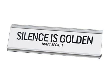 Stona dekoracija - Silence is Golden