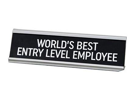 Stona dekoracija - Worlds Best Entry Level Employee