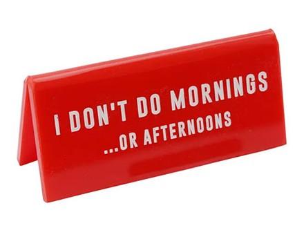 Stona poruka - Eureka, I Don`t Do Mornings...Or Afternoons - Eureka