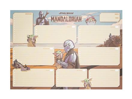 Stoni planer A3 - SW, The Mandalorian, Week To View - Star Wars, The Mandalorian