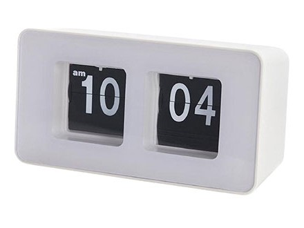 Stoni sat - Flip Clock, White - Balvi