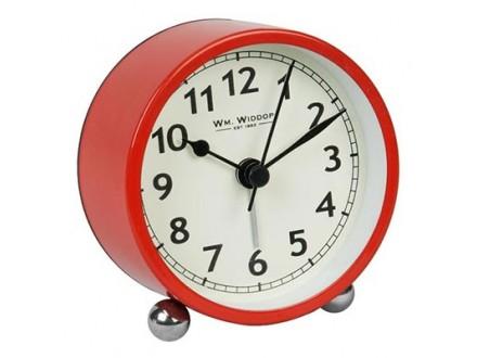 Stoni sat - Widdop Alarm Clock 8cm Red