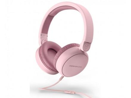 Style 1 Talk roze slušalice sa mikrofonom